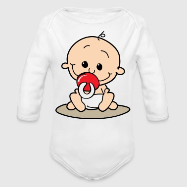 Cute Toddler - Organic Long Sleeve Baby Bodysuit