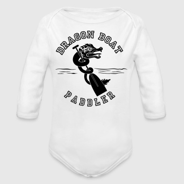 Dragon boat Paddler - Organic Long Sleeve Baby Bodysuit