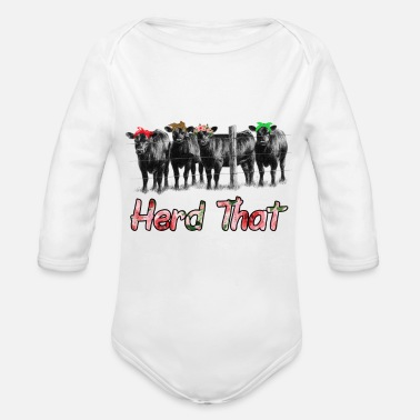 Milk Cute Herd That cow t-shirt for women and girls - Organic Long Sleeve Baby Bodysuit