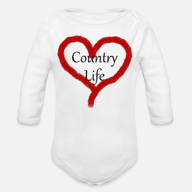 Country Life Country Life - Organic Long-Sleeved Baby Bodysuit