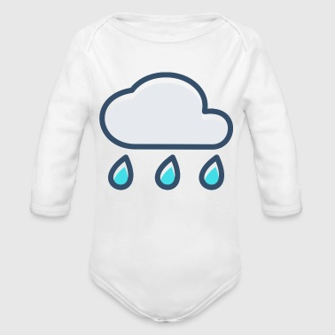 Rain cloud - Organic Long Sleeve Baby Bodysuit