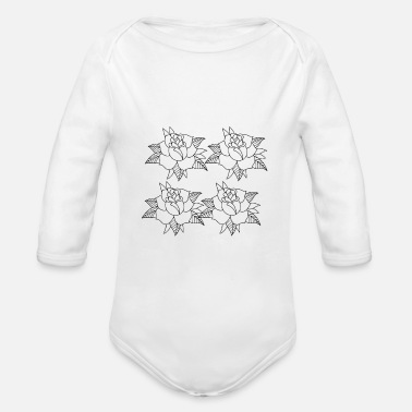 Black And White black and white - Organic Long-Sleeved Baby Bodysuit