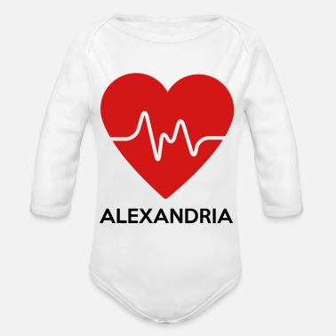 Egypt Heart Alexandria - Organic Long-Sleeved Baby Bodysuit