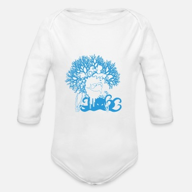 Underwater Underwater - Organic Long-Sleeved Baby Bodysuit