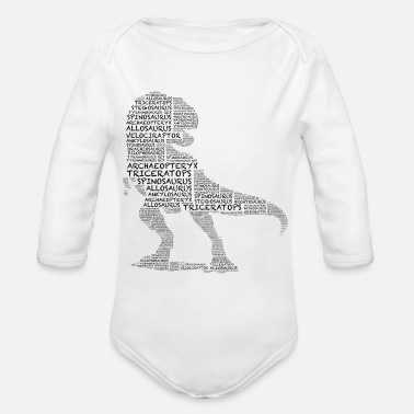 Dinosaurs Dinosaur of Dinosaurs - Organic Long-Sleeved Baby Bodysuit