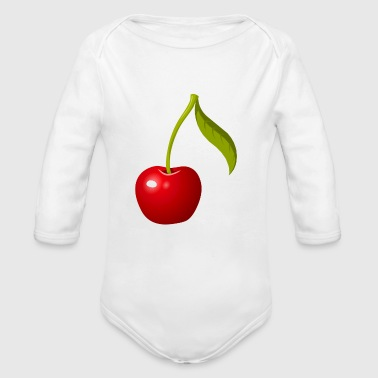 cherry - Organic Long Sleeve Baby Bodysuit