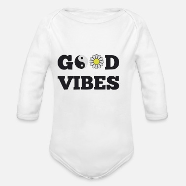 Good Vibes GOOD VIBES - Organic Long Sleeve Baby Bodysuit