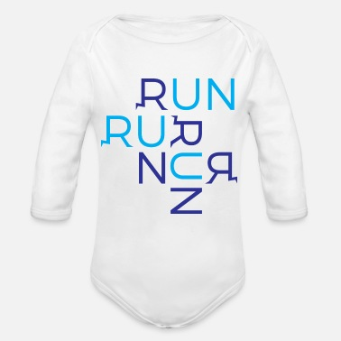 Running Run Run Run - Organic Long-Sleeved Baby Bodysuit