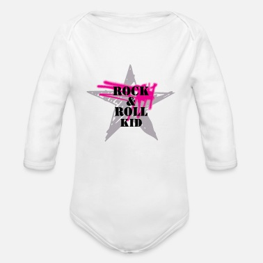 Rock N Roll Rock n Roll kid - Organic Long Sleeve Baby Bodysuit