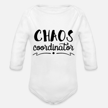 Chaos Chaos - Organic Long-Sleeved Baby Bodysuit