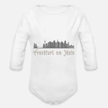 Frankfurt Am Main Frankfurt am Main Financial District Frankfurt - Organic Long-Sleeved Baby Bodysuit