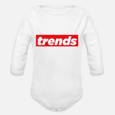 Trending Trends - Organic Long-Sleeved Baby Bodysuit