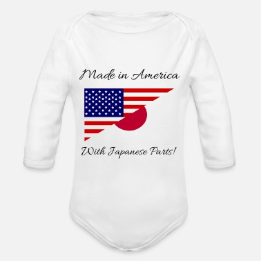 America Made in America with Japanese Parts! - Organic Long Sleeve Baby Bodysuit