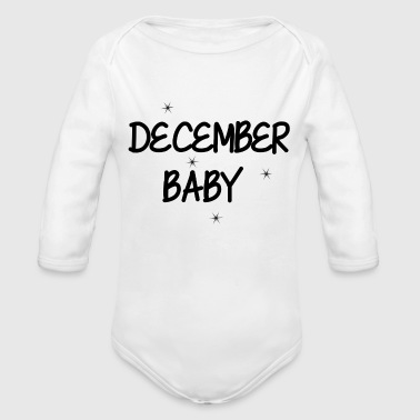 DECEMBER - Organic Long Sleeve Baby Bodysuit