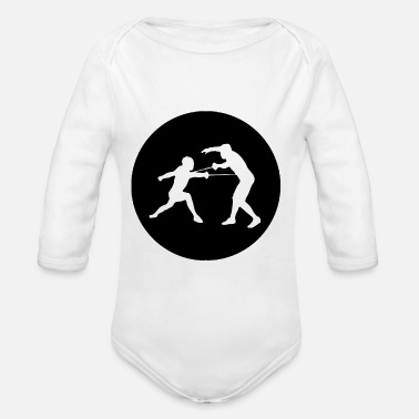 Two Guys Two guys in a circle 01 - Organic Long-Sleeved Baby Bodysuit