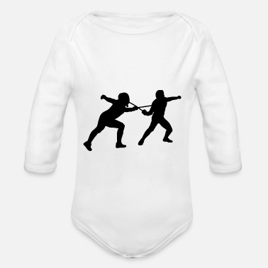 Two Guys Two guys fencing 01 - Organic Long-Sleeved Baby Bodysuit