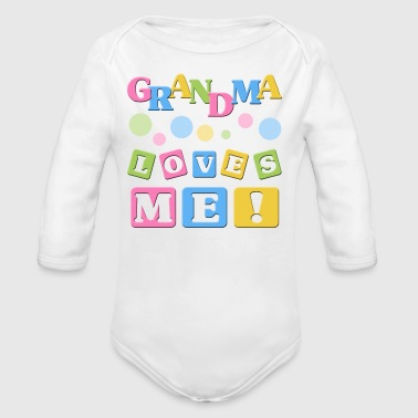 Grandma Loves Me - Long Sleeve Baby Bodysuit