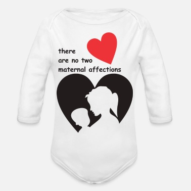 Affection There are no two maternal affections - Organic Long-Sleeved Baby Bodysuit