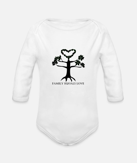 Reunion Baby One Pieces - family - Organic Long-Sleeved Baby Bodysuit white