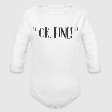 fine - Organic Long Sleeve Baby Bodysuit