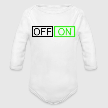 OFF or ON - Organic Long Sleeve Baby Bodysuit