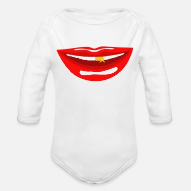 Mouth mouth - Organic Long Sleeve Baby Bodysuit