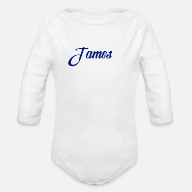 James James - Organic Long-Sleeved Baby Bodysuit