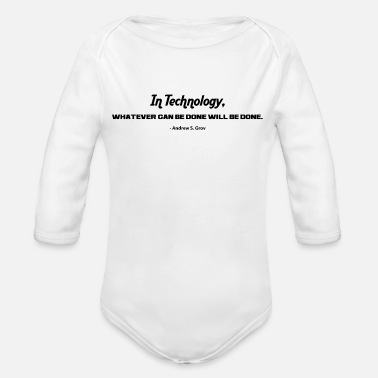 Technology IN TECHNOLOGY - Organic Long Sleeve Baby Bodysuit