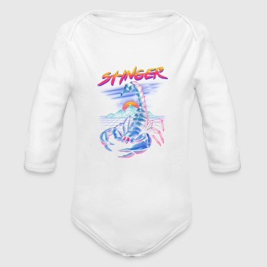 Stinger, Neon infused scorpion - Organic Long Sleeve Baby Bodysuit