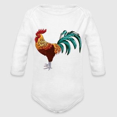 Cock - Organic Long Sleeve Baby Bodysuit