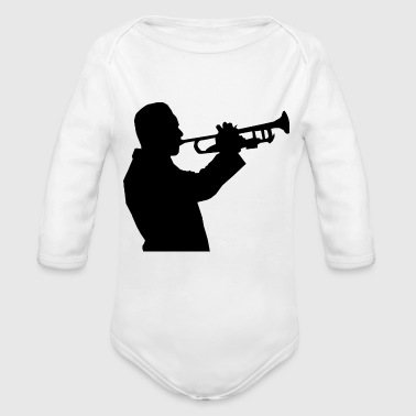 Horns horn - Organic Long Sleeve Baby Bodysuit