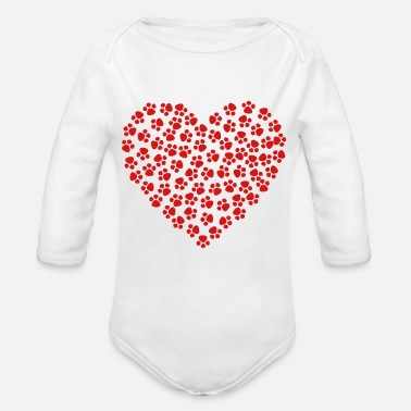 Paw Dog paw - Organic Long-Sleeved Baby Bodysuit
