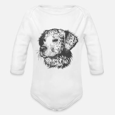 Dog Cute Doggy - Organic Long Sleeve Baby Bodysuit