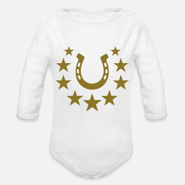 Horseshoe horseshoe - Organic Long-Sleeved Baby Bodysuit