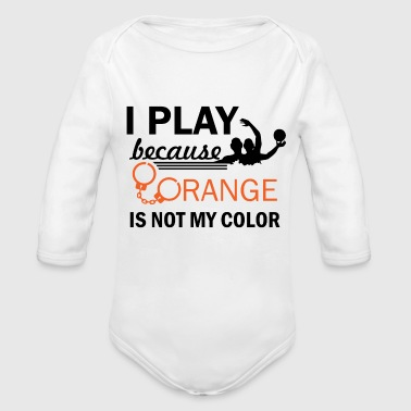 waterpolo design - Organic Long Sleeve Baby Bodysuit