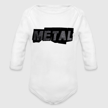 METAL - Organic Long Sleeve Baby Bodysuit