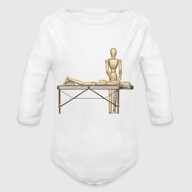 first aid massage erste hilfe therapy therapie6 - Organic Long Sleeve Baby Bodysuit