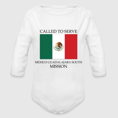Mexico Guadalajara South LDS Mission Called to - Organic Long Sleeve Baby Bodysuit