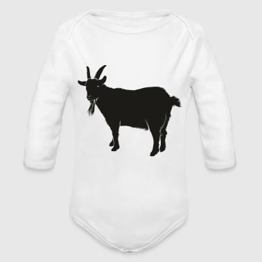 goat animal farm - Organic Long Sleeve Baby Bodysuit