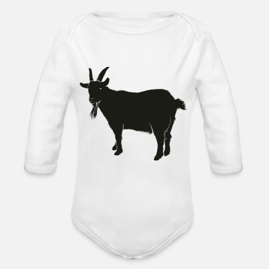 Animal goat animal farm - Organic Long Sleeve Baby Bodysuit