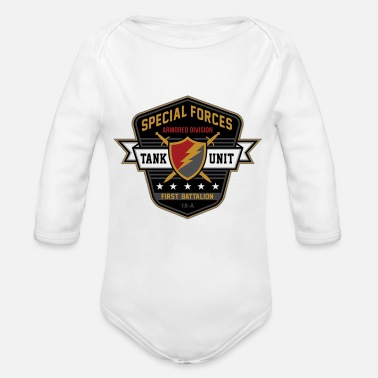 Special Forces armored division - Organic Long-Sleeved Baby Bodysuit