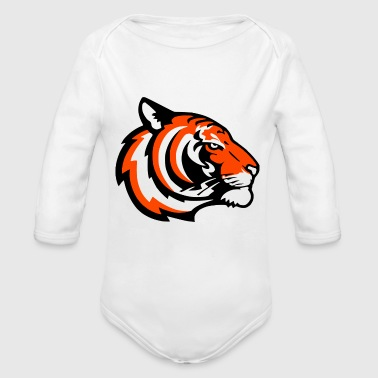 tiger - Organic Long Sleeve Baby Bodysuit