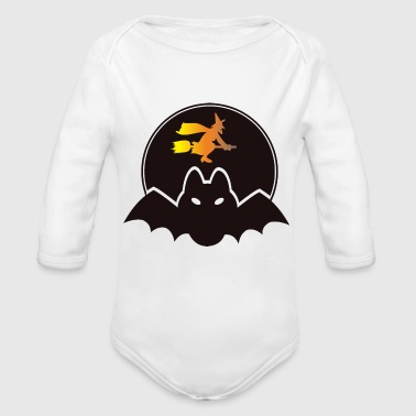 witch - Organic Long Sleeve Baby Bodysuit