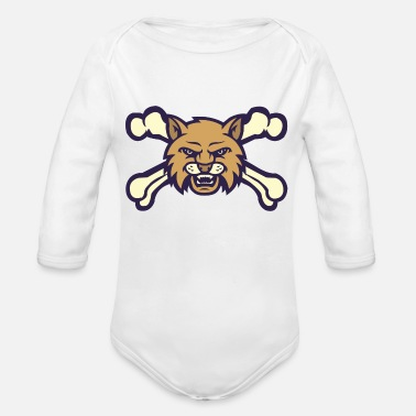 State Motto Montana State - Organic Long Sleeve Baby Bodysuit