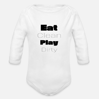Funny Crossfit Fitness Vegan Crossfit Motivational Quote Text - Organic Long-Sleeved Baby Bodysuit