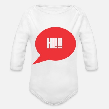Greeting greet friends - Organic Long-Sleeved Baby Bodysuit