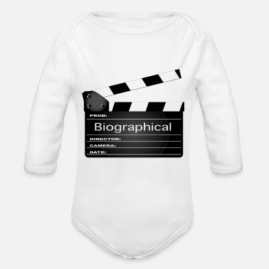 Clapperboard Biographical Movie Clapperboard - Organic Long-Sleeved Baby Bodysuit
