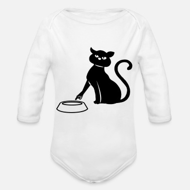 Cat Food Cat food funny - Organic Long-Sleeved Baby Bodysuit