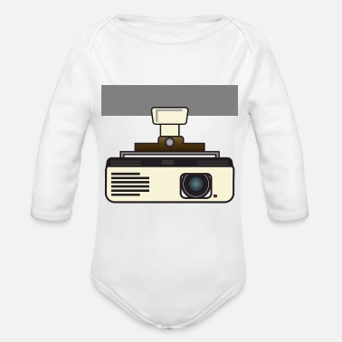 Vertex Video projector roof mounted version - Organic Long-Sleeved Baby Bodysuit