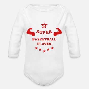 Ball Basketball Basket ball Basket-Ball Game Sport - Organic Long-Sleeved Baby Bodysuit